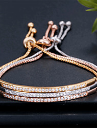 cheap -Women's Bracelet Tennis Chain Sweet Heart Fashion Alloy Bracelet Jewelry Rose Gold / Gold / Silver For Date Birthday Festival