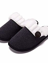 cheap -women cute slippers comfy fuzzy knitted memory foam slip house slipper shoes for womens indoor black us9-10