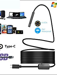 cheap -HD Industrial Endoscope Type C Android Endoscope Waterproof Mobile Phone Endoscope Air Conditioning Duct 1/5/10m