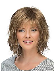 cheap -Synthetic Wig body wave Asymmetrical Short Dark Brown Grey Women's Fashionable Design Ombre Hair Exquisite