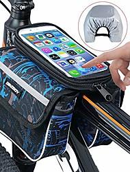 cheap -bike bag, bicycle top tube phone bag bike storage bag for max phone screen 6.2in with waterproof touch screen phone cas