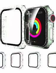 cheap -Protective Case for Apple Watch Series 6 5 4 3 2 1 SE with Screen Protector Hard PC Case Slim Tempered Glass Screen Protector Overall Protective Cover