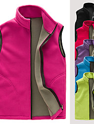 cheap -Women's Hiking Jacket Hiking Vest / Gilet Outdoor Solid Color Windproof Breathable Warm Comfortable Top Hunting Ski / Snowboard Fishing Black Purple Red Sky Blue Rose Red / Camping / Hiking / Caving