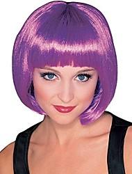 cheap -purple super model wig, purple, one size