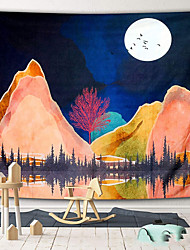cheap -Wall Tapestry Art Decor Blanket Curtain Picnic Tablecloth Hanging Home Bedroom Living Room Dorm Decoration Polyster Mountain River Moon Beauty View