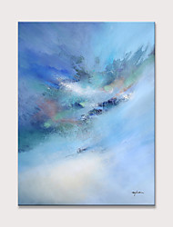 cheap -Oil Painting Hand Painted - Abstract Modern Rolled Canvas (No Frame)