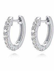 cheap -925 sterling silver huggie hoop earrings for women girls 10mm - 18k gold plated diamond cut cubic zirconia huggie earrings hoop stud