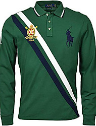 cheap -mens big and tall long sleeve mesh polo shirt (2x big, green sash multi)