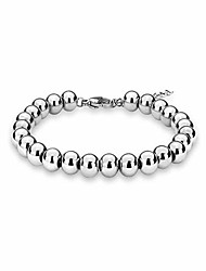 cheap -sterling silver 4mm-10m italian bead ball chain bracelet- handmade bead italian bracelet, silver bead bracelet for women (7, 8mm gold plated)