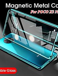 cheap -Case For Xiaomi Pocophone F1 / Xiaomi Poco X3 NFC Shockproof / Flip / Transparent Full Body Cases Transparent Tempered Glass / Metal