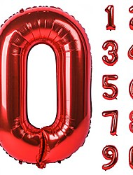 cheap -40 inch black large numbers 0-9 birthday party decorations helium foil mylar big number balloon digital 1