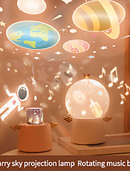 cheap -Angel Rotating LED Projector Lamp Night Light Kids Musical Box Gift Projection Light Starry Music Box Night Light Christmas Decorations gift