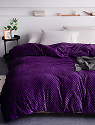 cheap -1-Piece Removable Duvet Cover for Weighted Blanket,Super Soft Short Plush With Cozy Soft Minky Dot,Just Cover For Twin/Queen/King Size(Dark Purple)