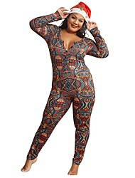 cheap -Women's Active Rainbow Jumpsuit Abstract Print