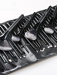 cheap -32 Black Log Makeup Brushes Beginner Makeup Brush Set Makeup Brush Set