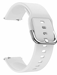 cheap -universal silicone watch band replacement, 20mm soft straps compatible with gizmo watch/samsung galaxy watch active/42mm/gear sport/huawei watch/ticwatch bands (20mm, white)