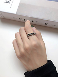cheap -Ring Retro Silver Alloy Simple Vintage Trendy 1pc Index Finger Middle Finger Ring Finger / Open Cuff Ring
