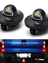 cheap -2Pcs 3W 6500K Full LED License Plate Light Kit For1990-2014 Ford F-150  1990-1999 Ford F-250  1990-1997 Ford F-350 1999-2016 Ford F-Series Superduty F-250  F350  F-450  F-550  2004 Ford F-150 Heri