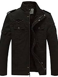 cheap -men's winter military style air force jacket (black,l)