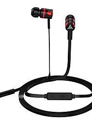 cheap -Super Bass Earphones 3.5mm In-Ear Earphone with Microphone Stereo Earbuds Headset-with Portable Earphone Bags