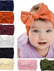 cheap -1pcs Toddler / Infant Girls' Basic Black / White / Red Solid Colored Pure Color Spandex / Cotton Hair Accessories White / Black / Blushing Pink One-Size