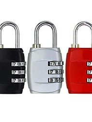 cheap -Padlock 3 Dial Digit Password Combination Password Lock Suitcase Luggage Metal Code Lock Mini Coded Keyed Anti-Theft Locks