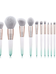 cheap -12 Makeup Brushes Set Loose Powder Brush Foundation Brush Frosted Green Gradient Color Makeup Beauty Tools