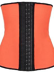 cheap -latex waist trainer steel boned corset shapewear waist cincher (us size 4-6 (s), orange)
