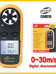 cheap -Portable Digital Anemometer Meter Temperature TesterWind Speed Gauge Meter 30m/s LCD Hand-held tool GM816-BENETECH
