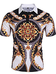 cheap -but& #39;s paisley casual short sleeve floral print jersey polo shirt & #40;luxury, small& #41;