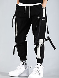 cheap -men's cargo pants Streetwear Trousers With Multi-pockets hiphop punk jogger sport harem pants spring Fall