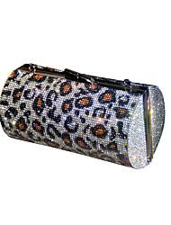 cheap -Women's Bags Polyester Evening Bag Crystals Chain Color Block Cheetah Print Party Wedding 2021 Handbags Chain Bag Rainbow