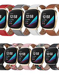 cheap -Watch Band for Fitbit Versa 3 / Fitbit Sense Fitbit Classic Buckle Genuine Leather Wrist Strap