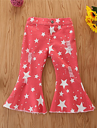 cheap -Kids Toddler Girls' Print Jeans Red