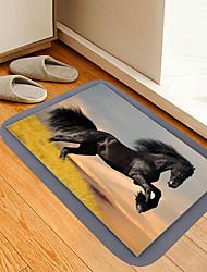 cheap -Grassland Pentium Black Horse Digital Printing Floor Mat Modern Bath Mats Nonwoven Memory Foam Novelty Bathroom