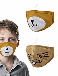 cheap -kids face mask reusable cloth breathable washable bear yellow cute anime adjustable childrens for dust airsoft cotton boys toddler girls fabric baby ear loops child mouth youth
