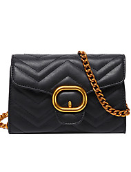 cheap -Women's Bags PU Leather / Polyester Crossbody Bag Chain for Daily / Going out White / Black / Red / Silver