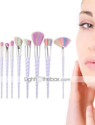 cheap -Factory wholesale new colorful spiral handle ten sets of colorful makeup brushes tapered unicorn makeup brushes