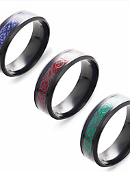 cheap -8mm red carbon fiber black celtic dragon ring for men beveled edges wedding band, 6-13