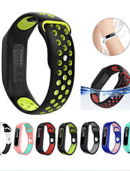 cheap -Soft Silicone Two-color Watch Band Wrist Strap Bracelet for Huawei 3e/Huawei Honor 4 Running/Huawei AW70 Smart Watch Accessories