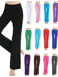 cheap -Women's High Waist Yoga Pants Bootcut Flare Leg 4 Way Stretch Breathable Quick Dry Deep Purple Lake blue Pink Modal Zumba Fitness Gym Workout Sports Activewear High Elasticity Loose