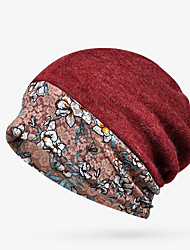 cheap -Women's Floppy Hat Knitwear Cotton Active Basic - Floral Comfortable Fall Winter Wine Royal Blue Dark Gray