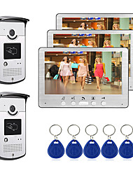 cheap -Wired 7 inch Hands-free Monitor Video Doorphone with Infrared Night Vision Camera RFID Unlock Video Intercom