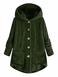 povoljno -ženska modna jakna s dugim rukavima s kapuljačom promašaj široka čupava prevelika jakna s džepovima topla zima Army Green