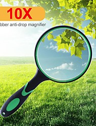 cheap -Portable 10X Magnifying Glass 75mm Handheld Magnifier for Antique Jade Jewelry Reading Book Loupe Glass