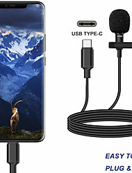 cheap -Portable External type-c  Hands-Free Wired Lapel Clip Microphone for Loudspeaker phone computer accessory