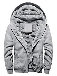 cheap -ulanda men's winter jackets thicken hooded fleece sherpa lined zipper hoodie sweatshirt jacket warm thick coats red
