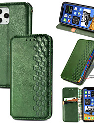 cheap -Phone Case For Apple Full Body Case Flip iPhone 12 Pro Max 11 SE 2020 X XR XS Max Card Holder Flip Solid Colored PU Leather TPU