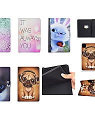 cheap -Case For Apple iPad Air 4 2020 10.9 iPad Pro 11 10 .2 2019 9.7 2017 2018 Mini 12345 Card Holder with Stand Pattern Full Body Cases Word Phrase Heart Animal PU Leather