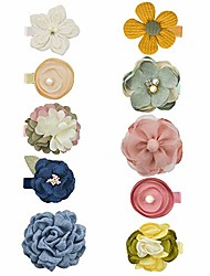 cheap -baby girls tiny daisy flower hair clips floral barrettes for infants newborns toddlers 10pcs by